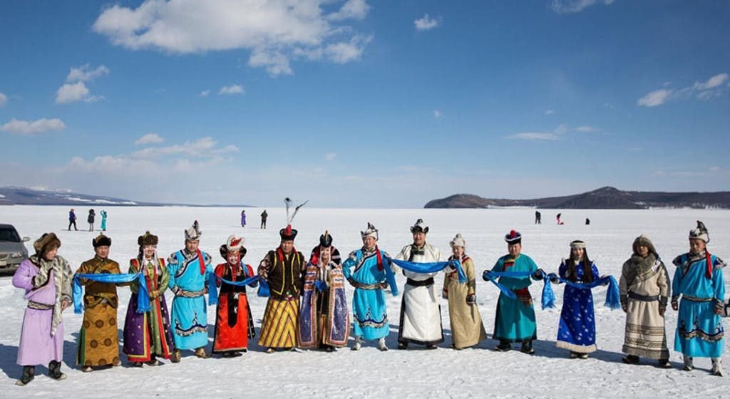 Celebrate Mongolia's winter on an ancient, frozen lake